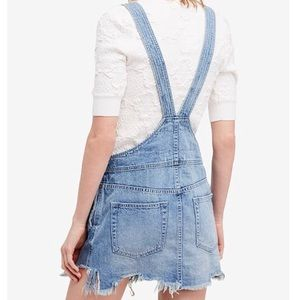 c4f0f8b6207 Free People Skirts - Free people cotton ripped overalls dress